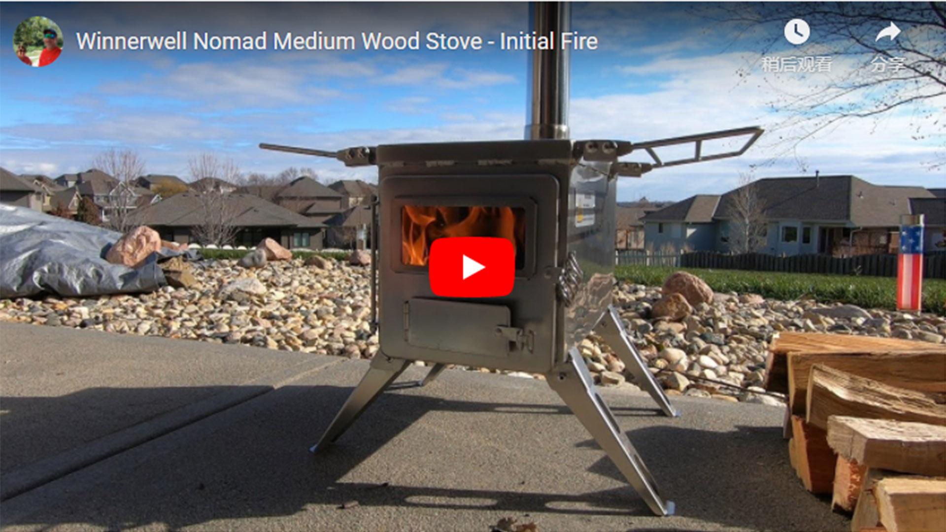 Winnerwell Nomad Medium Wood Stove – Initial Fire 2